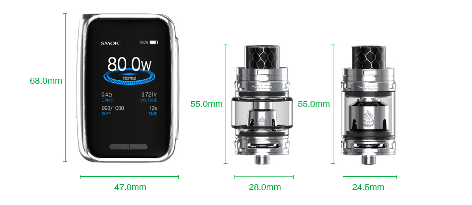 SMOK X-Priv Baby 80W TC Kit with TFV12 Big Baby Prince 2300mAh
