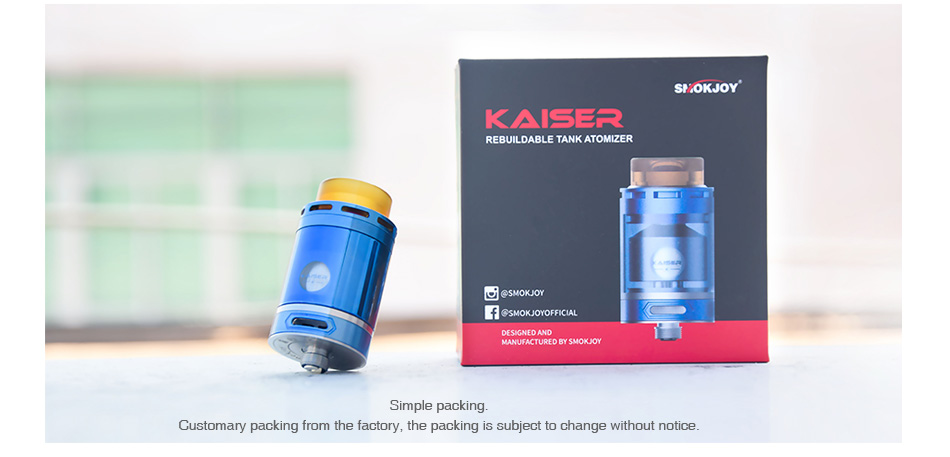 SMOKJOY Kaiser RTA 3ml