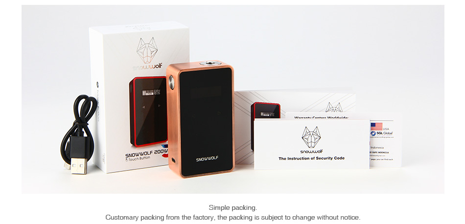 SNOWWOLF 200W C TC Box MOD