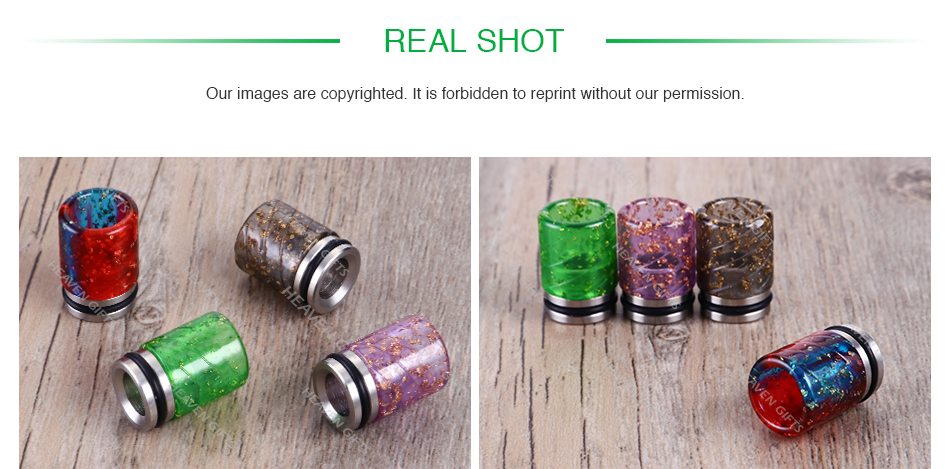 Sequins Resin 810 Drip Tip 0304