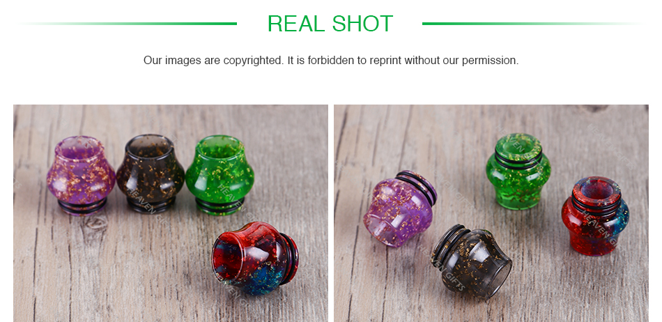 Sequins Resin Bulb 810 Drip Tip 0290