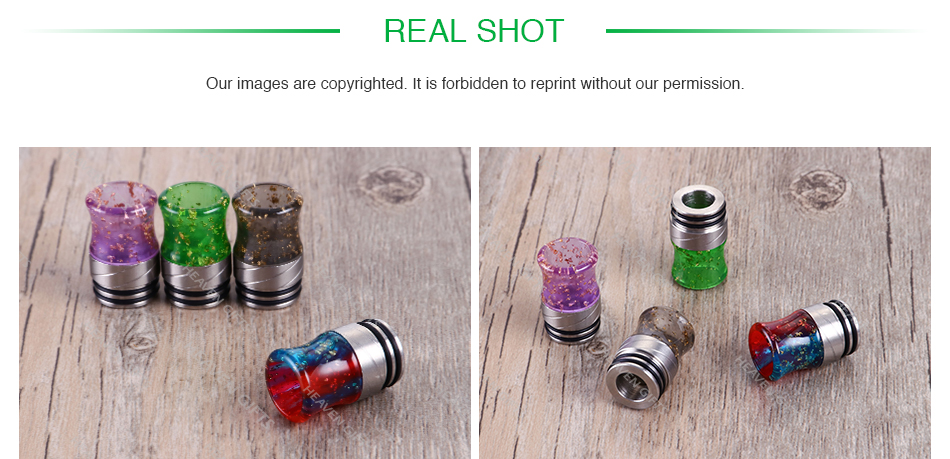 Sequins Resin Curve 810 Drip Tip 0297