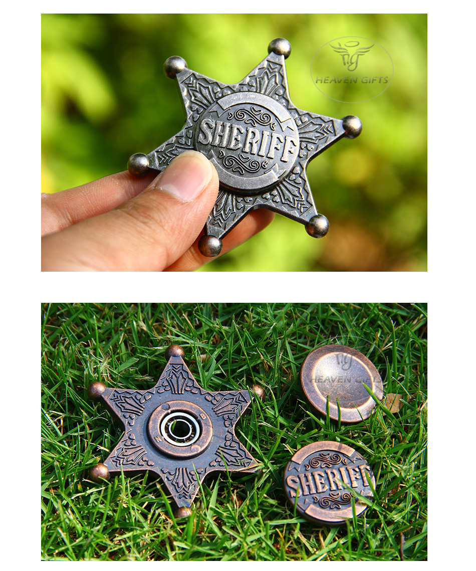 Sheriff Hand Spinner Fidget Toy