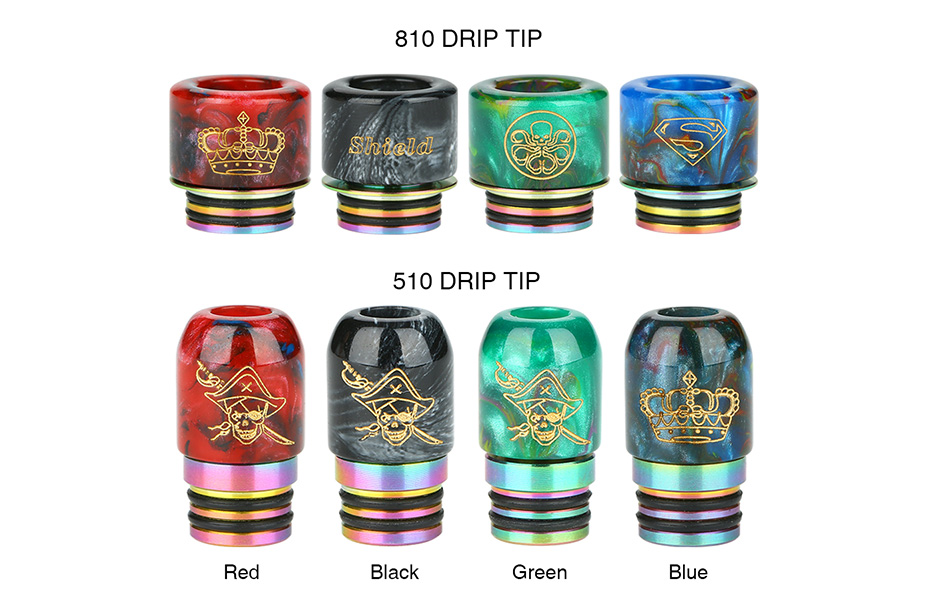 Shield Cig 510 and 810 Resin Drip Tip