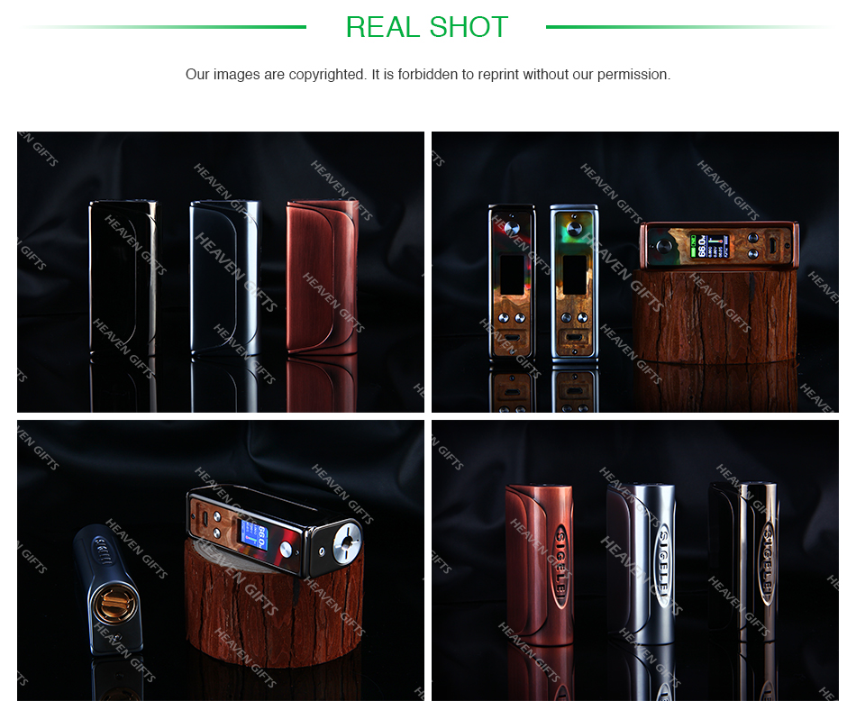 Sigelei Evaya 66W Stabilized Wood TC Box MOD