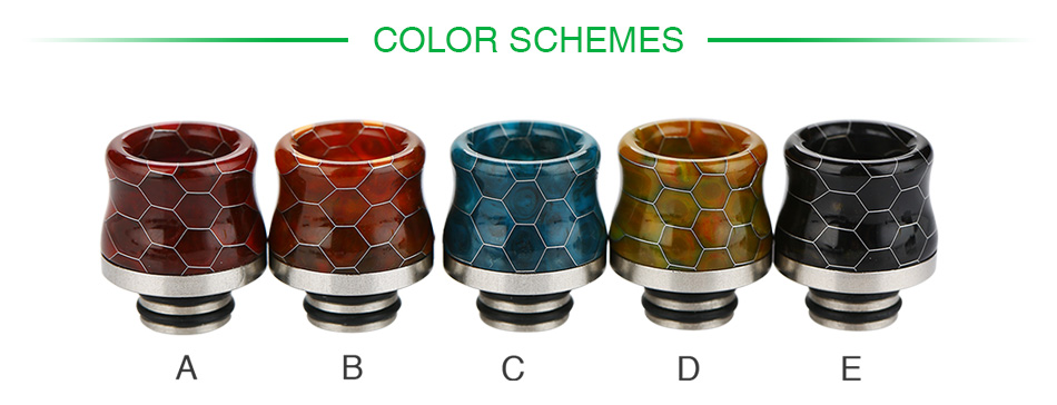 Snakeskin Resin Drip Tip for TFV8 Baby 510
