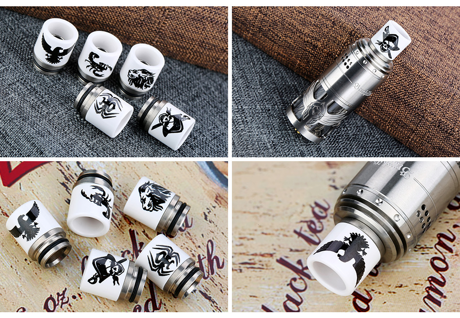 Stainless Steel Ceramic 810 Drip Tip C021