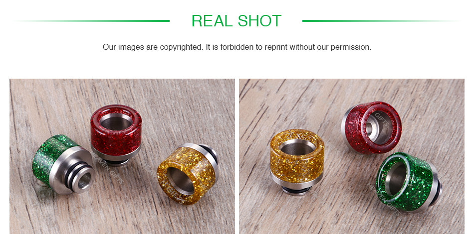 Stainless Steel Sequins 510 Drip Tip 0275