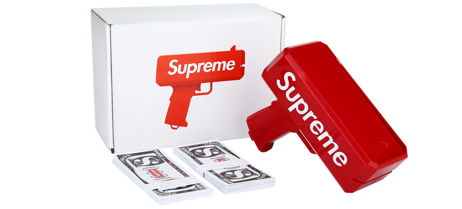 Supreme Cash Cannon Money Gun Toy