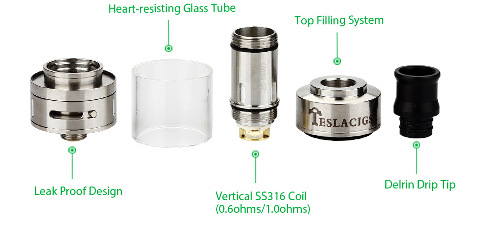 Tesla Stealth 40W TC Starter Kit - 1300mAh