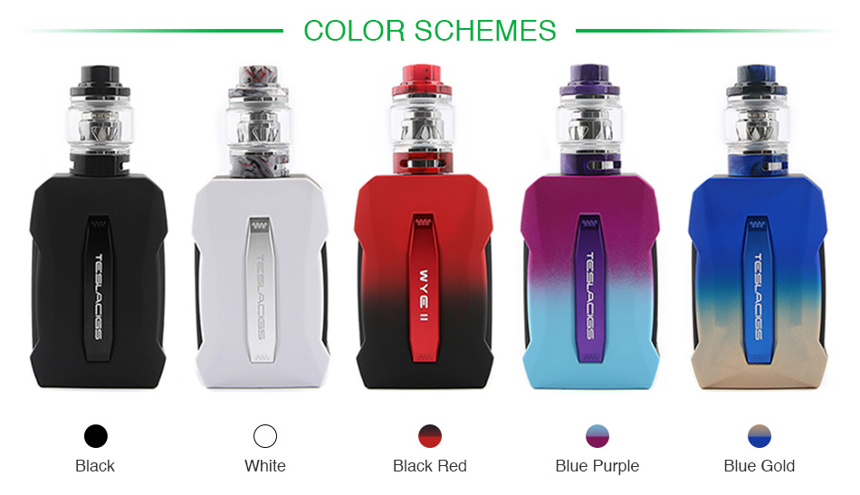 Tesla WYE II 215W TC Kit with Resin Tank
