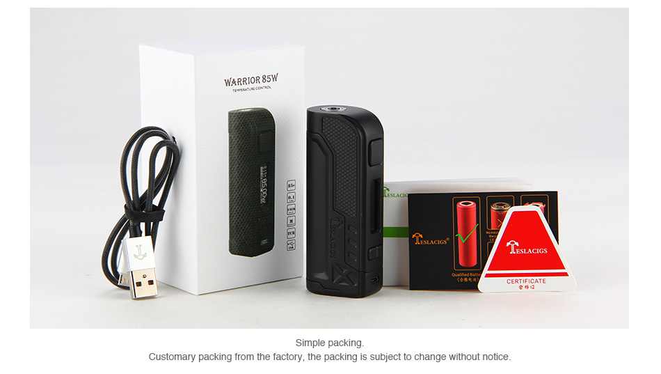 Tesla Warrior 85W TC Box MOD