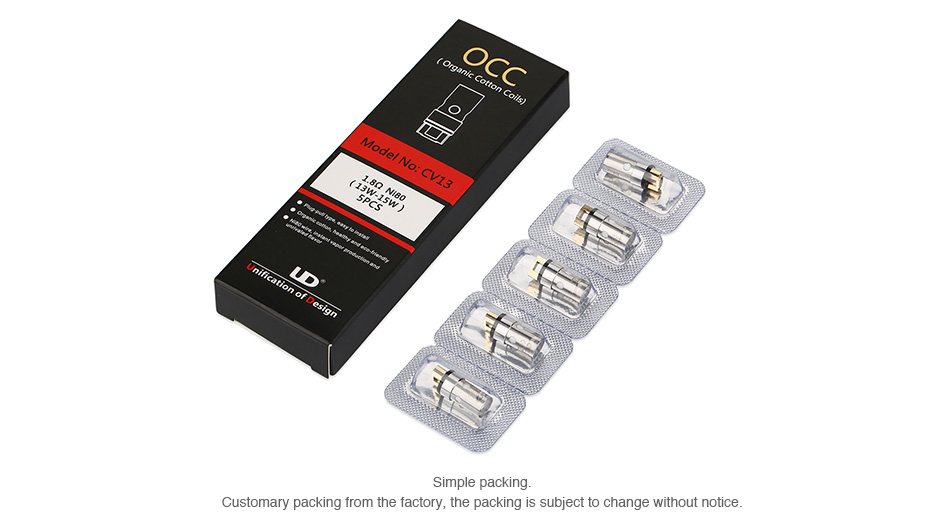 UD Apro 16 OCC Replacement Coil 5pcs