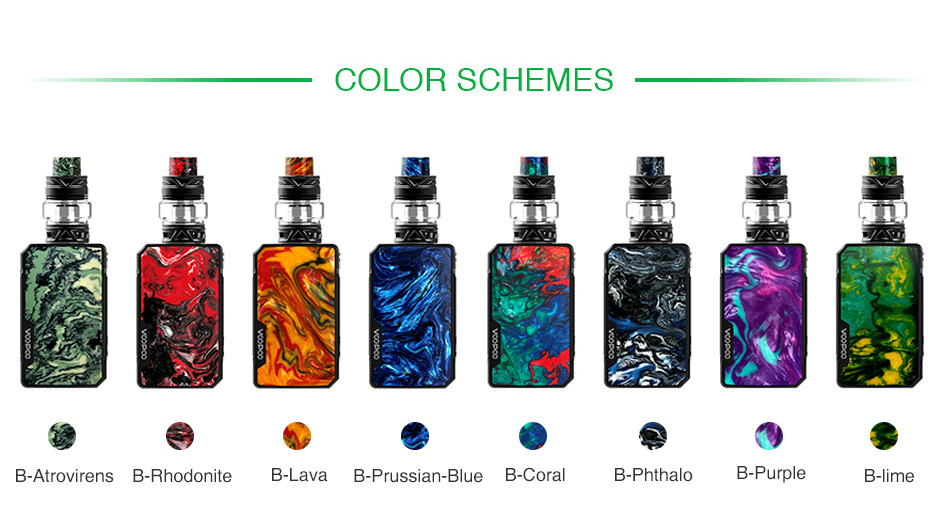 Kit VOOPOO Drag Mini 117W TC com UFORCE T2 4400mAh