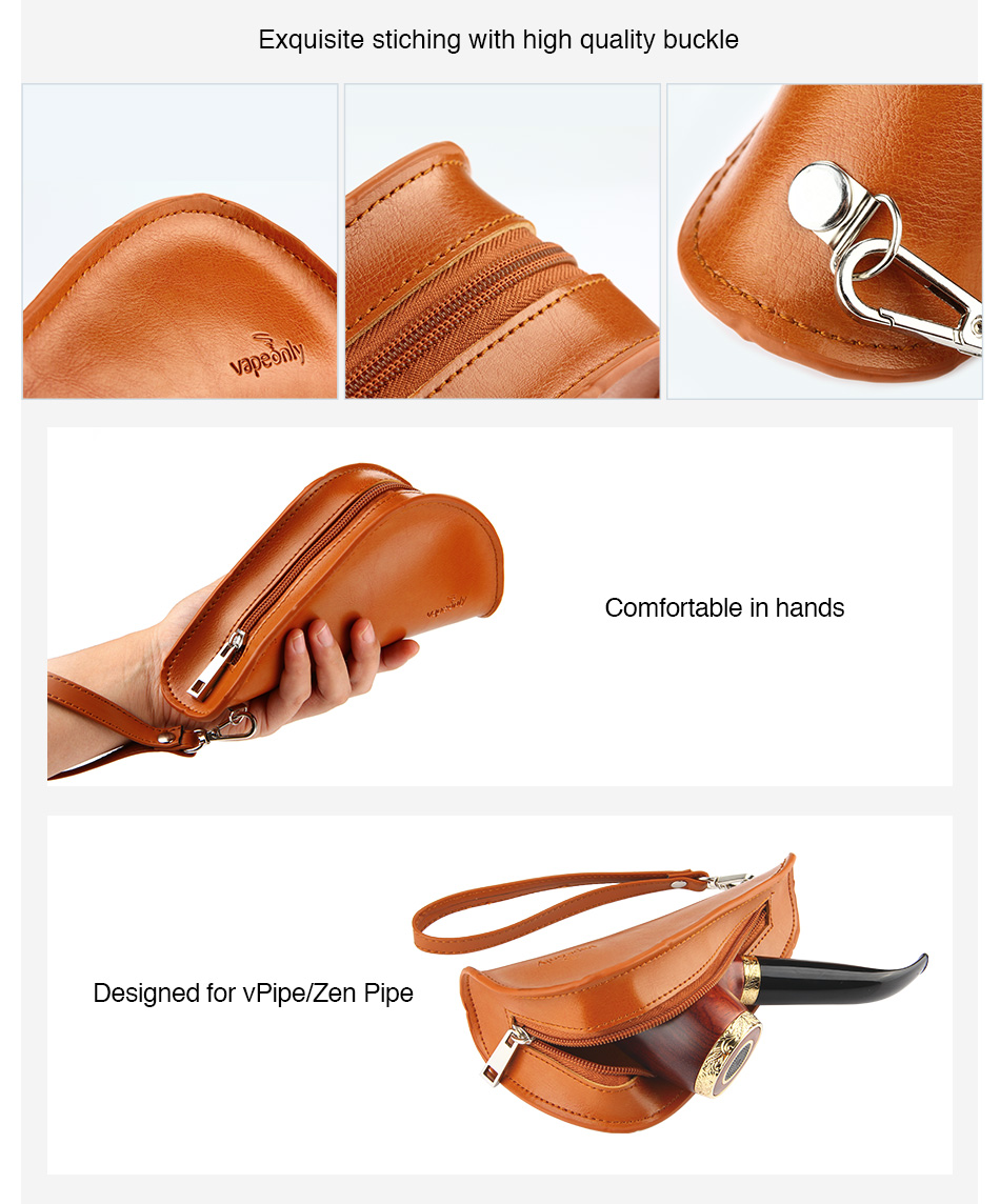 VapeOnly Leather Pipe Storage Bag