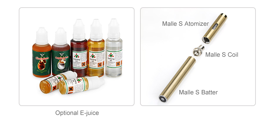 VapeOnly New Malle PCC Kit with Malle S Ecig 2250mAh