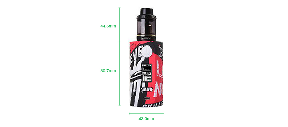 Vapor Storm Puma 200W TC Kit with Hawk Tank