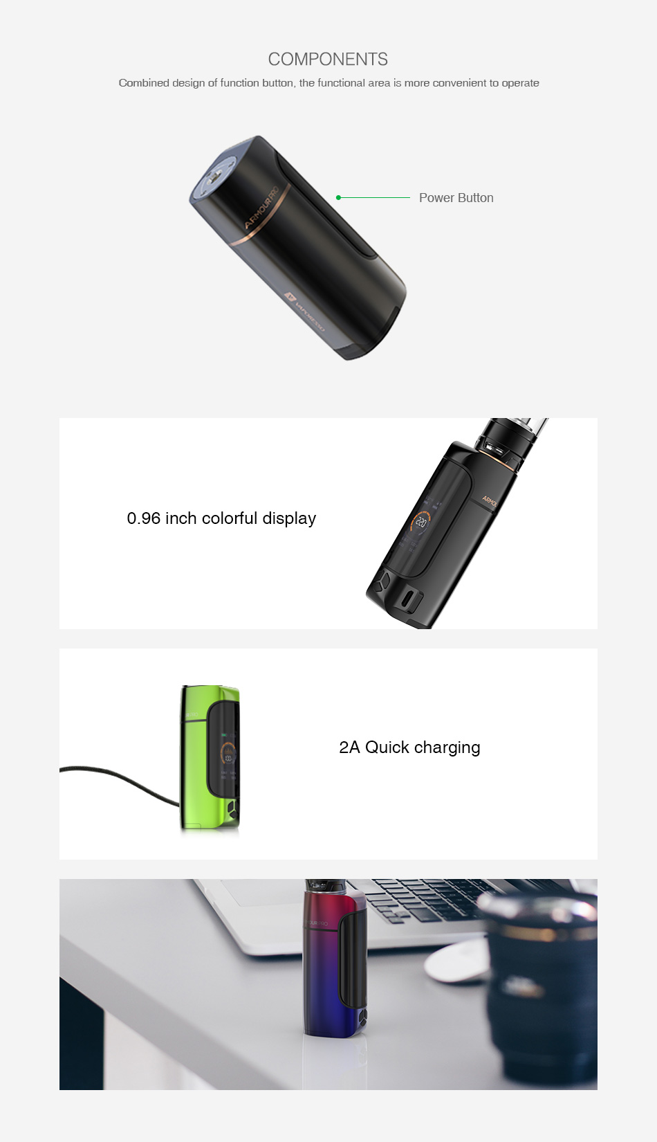 Vaporesso Armour Pro 100W TC Box MOD