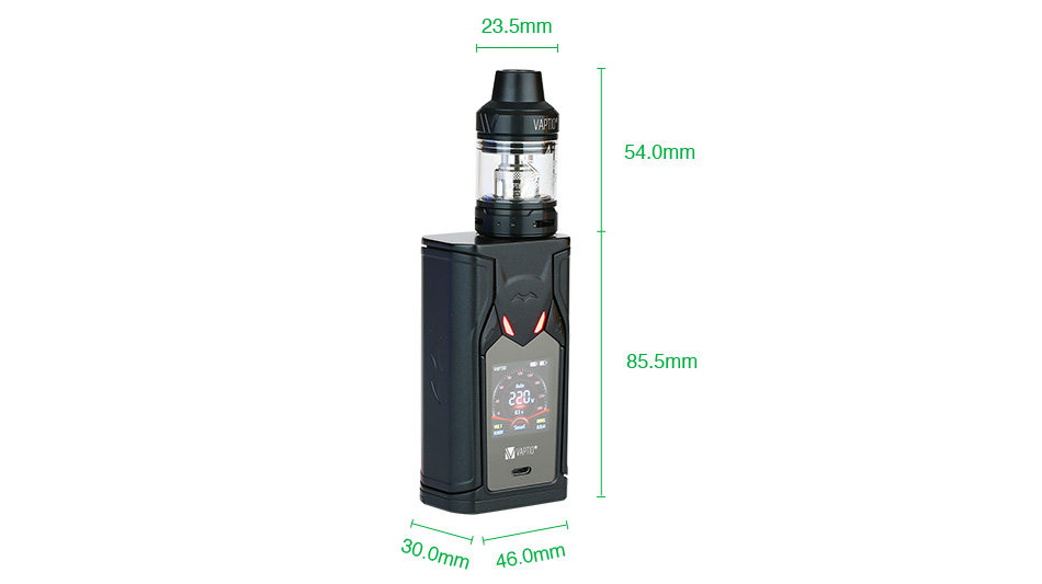Vaptio Super Bat 220W TC Kit with Frogman Tank