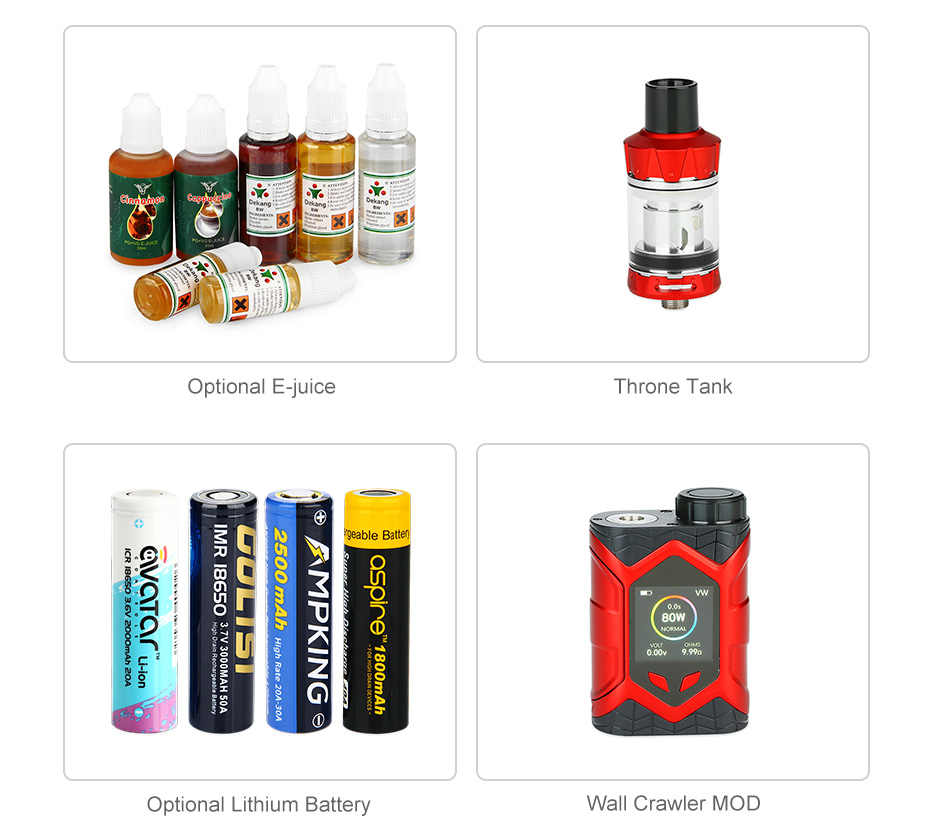 Vaptio Wall Crawler 80W TC Kit with Throne Tank
