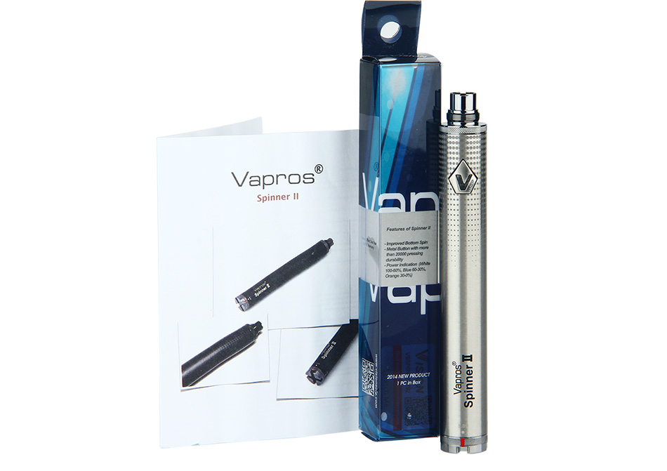 Vision Vapros Spinner II eGo Variable Voltage Battery - 1600mAh