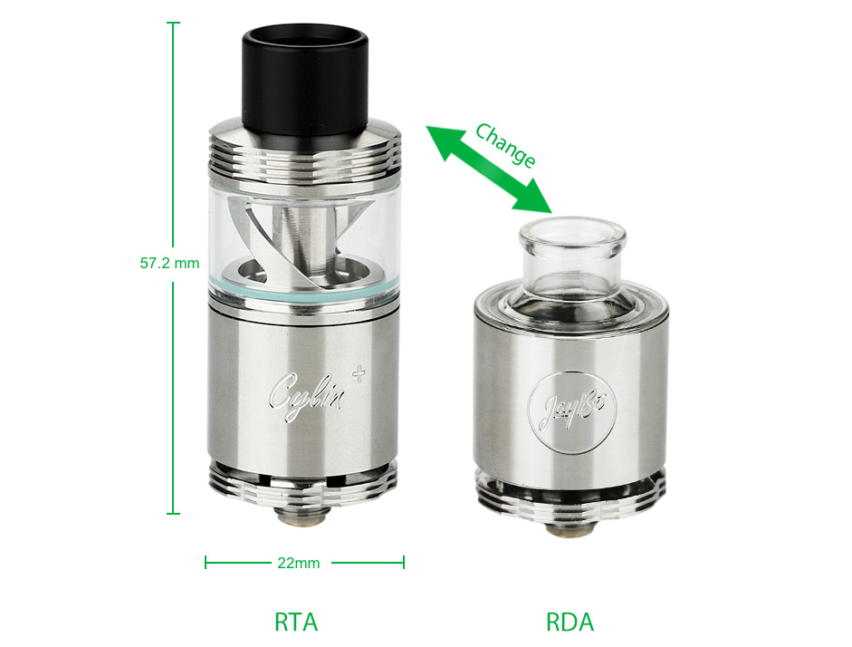 WISMEC Cylin Plus RTA/RDA Tank Kit - 3.5ml