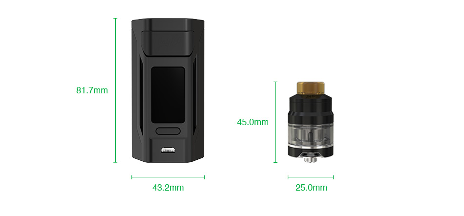 WISMEC Reuleaux RX2 20700 200W with Gnome TC Kit