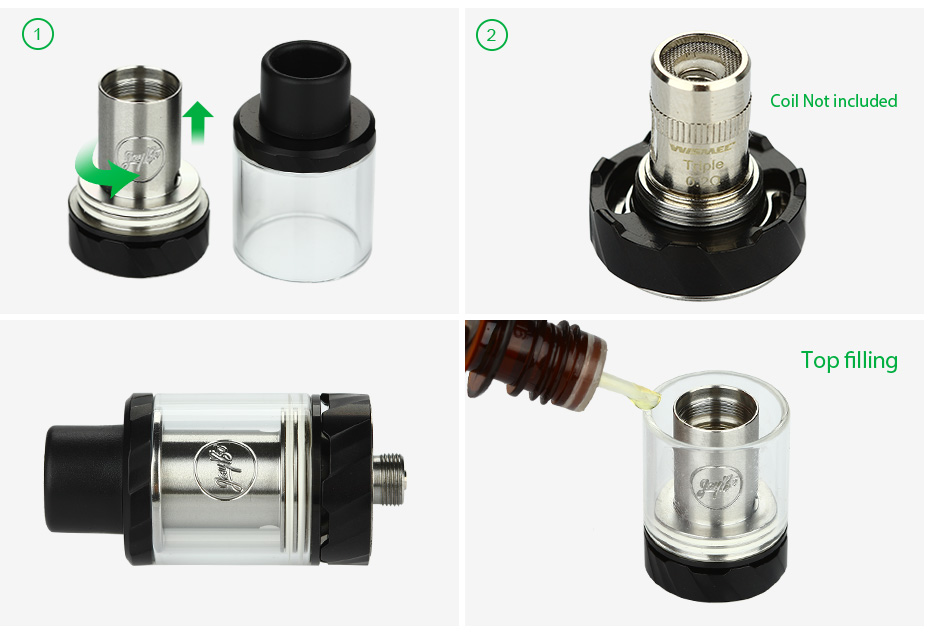 WISMEC Reux Mini Atomizer - 2ml