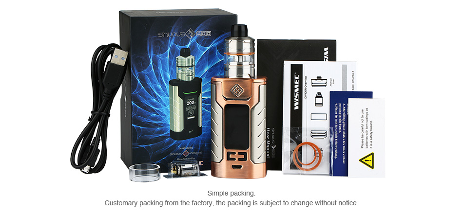 WISMEC SINUOUS FJ200 with Divider TC Kit - 4600mAh