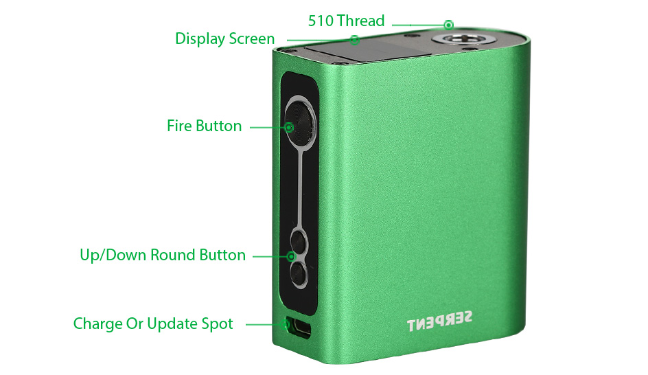 WOTOFO Serpent 50W TC Box MOD - 2000mAh