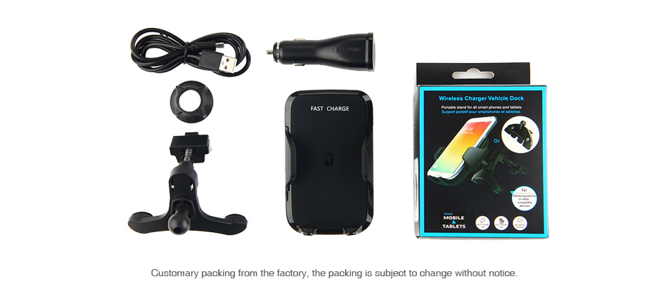 Wireless Car Charger for Smart Phone with Adjustable Holder
