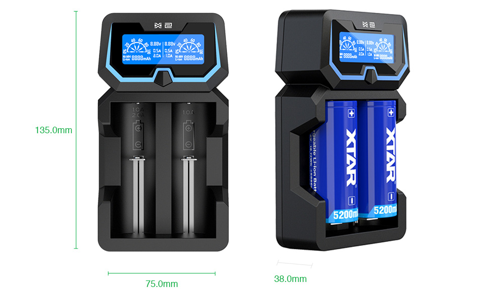Xtar X2 2-slot Quick Charger