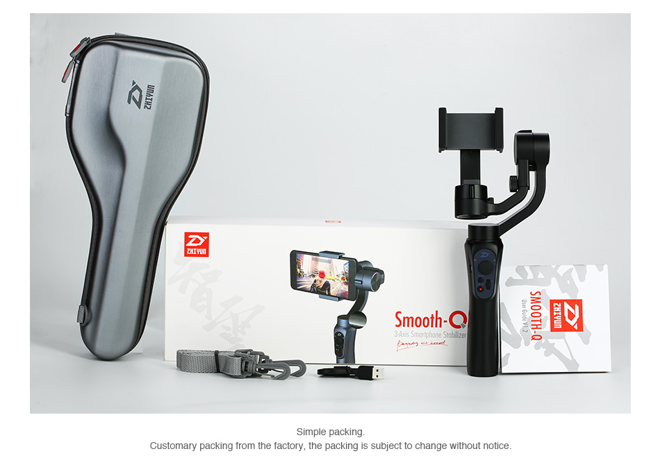 Zhiyun Smooth-Q 3-Axis Handheld Gimbal Stabilizer for Smartphone 2000mAh