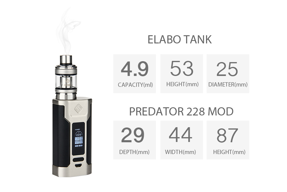wismec predator 228 how to change to volts mode
