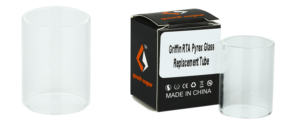 GeekVape Griffin RTA Pyrex Glass Замена трубки