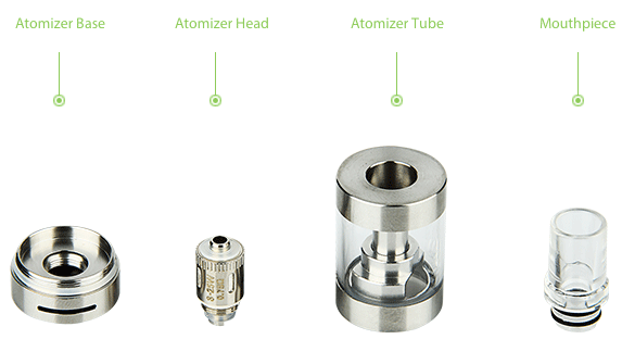 Eleaf GS Air 2 Airflow Adjustable Atomizer(D=19) - 2.5ml