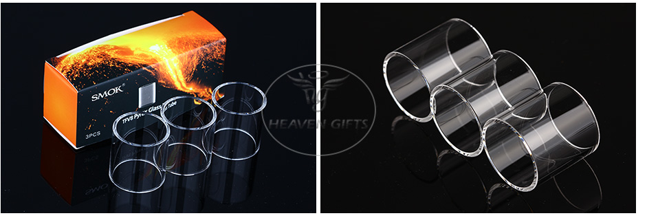 3pcs SMOK TFV8 Pyrex Glass Tube