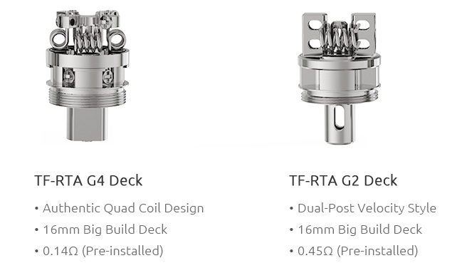 SMOK TF-RTA Tank - 4.5ml, Steel