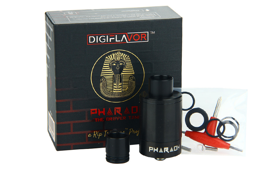 Digiflavor Pharaoh 25 Dripper Tank - Hitam