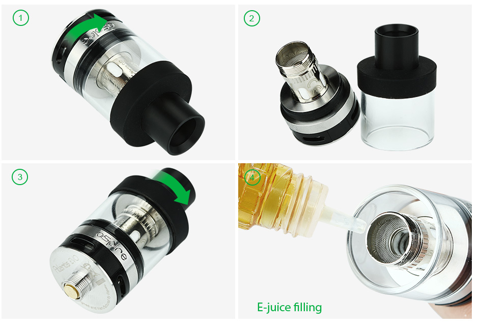 Aspire Atlantis EVO Extended Tank Kit with 4ml Replacement Tube, SS