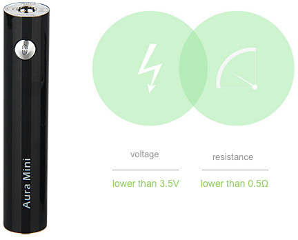 VapeOnly Aura Mini Battery - 1450mAh