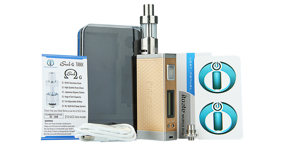 60W Innokin iTaste MVP3.0 Pro VV/VW Starter Kit with 4.5ml iSub G Tank - 4500mAh