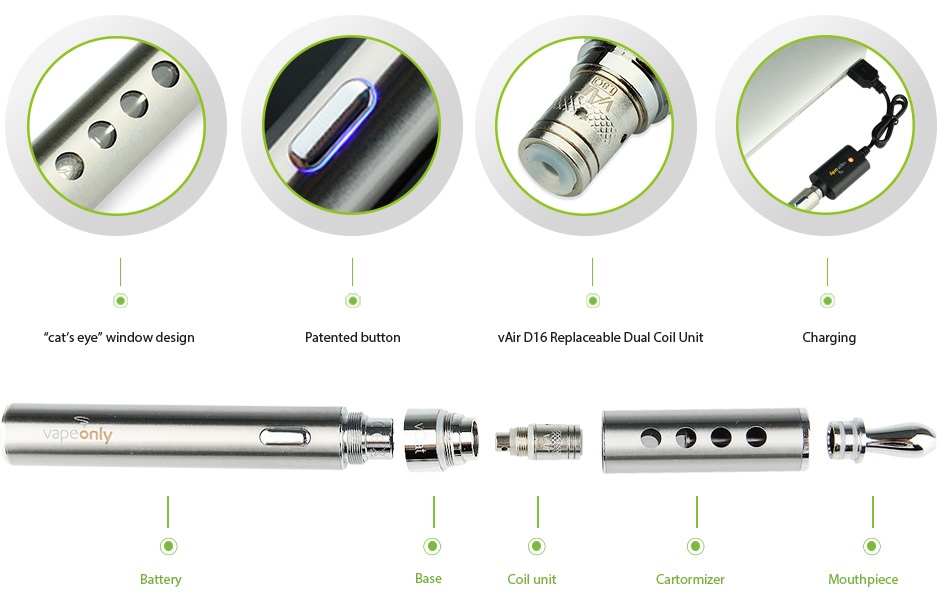 VapeOnly vCat Starter Kit Features