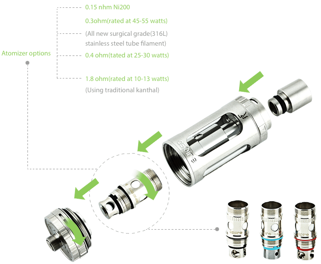 Aspire Odyssey TC Kit with Triton Tank and Pegasus MOD W/O Battery