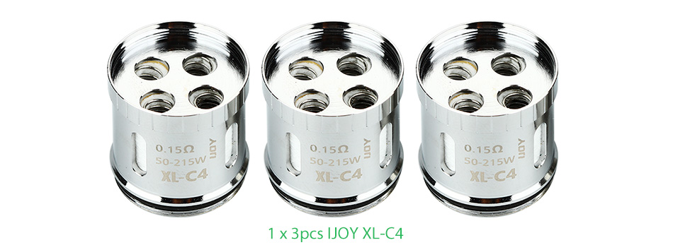 3pcs IJOY XL-C4 Light-up Chip Coil