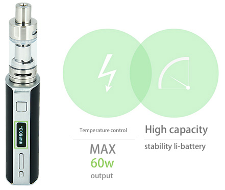 60W Eleaf iStick TC MOD W / O Battery + Melo 2 Atomizer