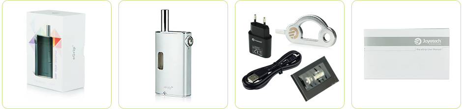 Joyetech eGrip Kit -1500mAh, Silver Parts