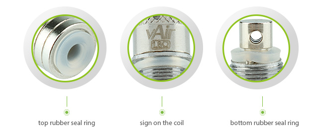 5pcs VapeOnly vAir D16 / vCat Replaceable Dual Coil Unit Featres
