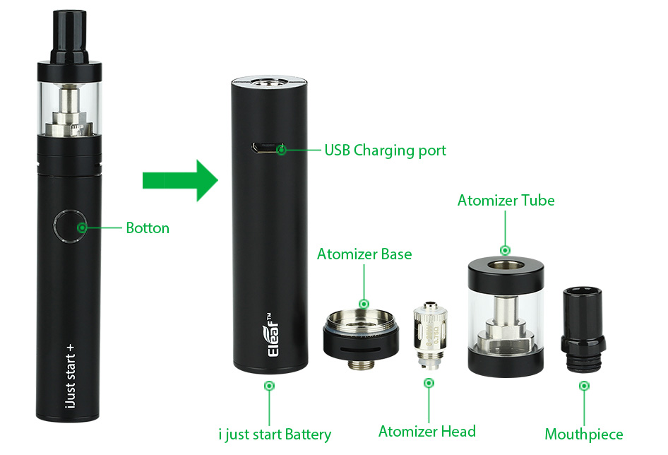 Eleaf iJust Start Plus Kit dengan 2.5ml Atomizer - 1600mAh