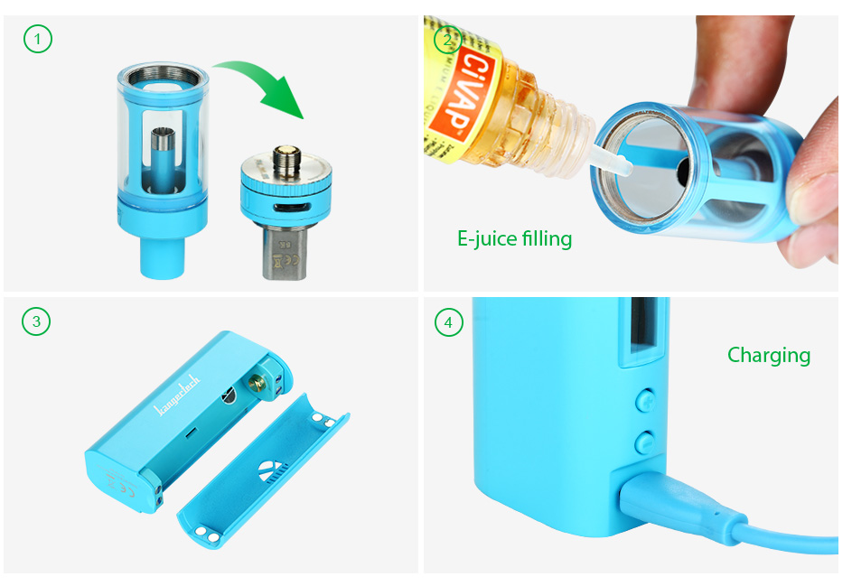 Kangertech Subox Mini Starter Kit W/O Battery, Blue
